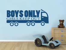 truck wall sticker multiple sizes