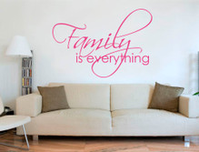 family is everything wall sticker pink multiple sizes