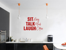 sit talk laugh wall sticker multiple sizes