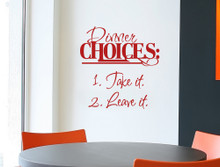 dinner choices wall sticker