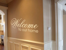 welcome to our home wall art sticker multiple sizes