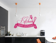 kitchen open 24 hrs wall sticker