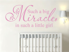 such a big miracle in such a little girl wall sticker pink multiple sizes