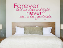forever hold me close wall sticker