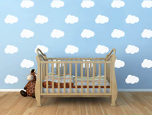 cloud wall decals white