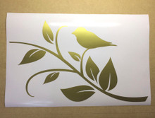 bird wall sticker gold
