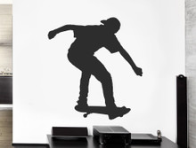 skateboard wall art sticker black