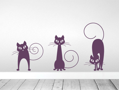 Cat Wall Decals Purple
