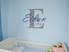 baby name wall sticker
