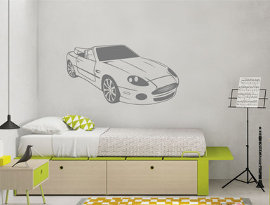 Aston Marin car wall sticker grey