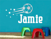 personalised football wall sticker