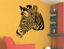 zebra wall sticker black