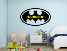 personalised superhero wall sticker multiple sizes