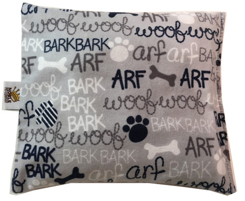 Arf, Bark, Bark - Light Grey Flannel Note: Colors may appear slightly different on screen due to lighting)