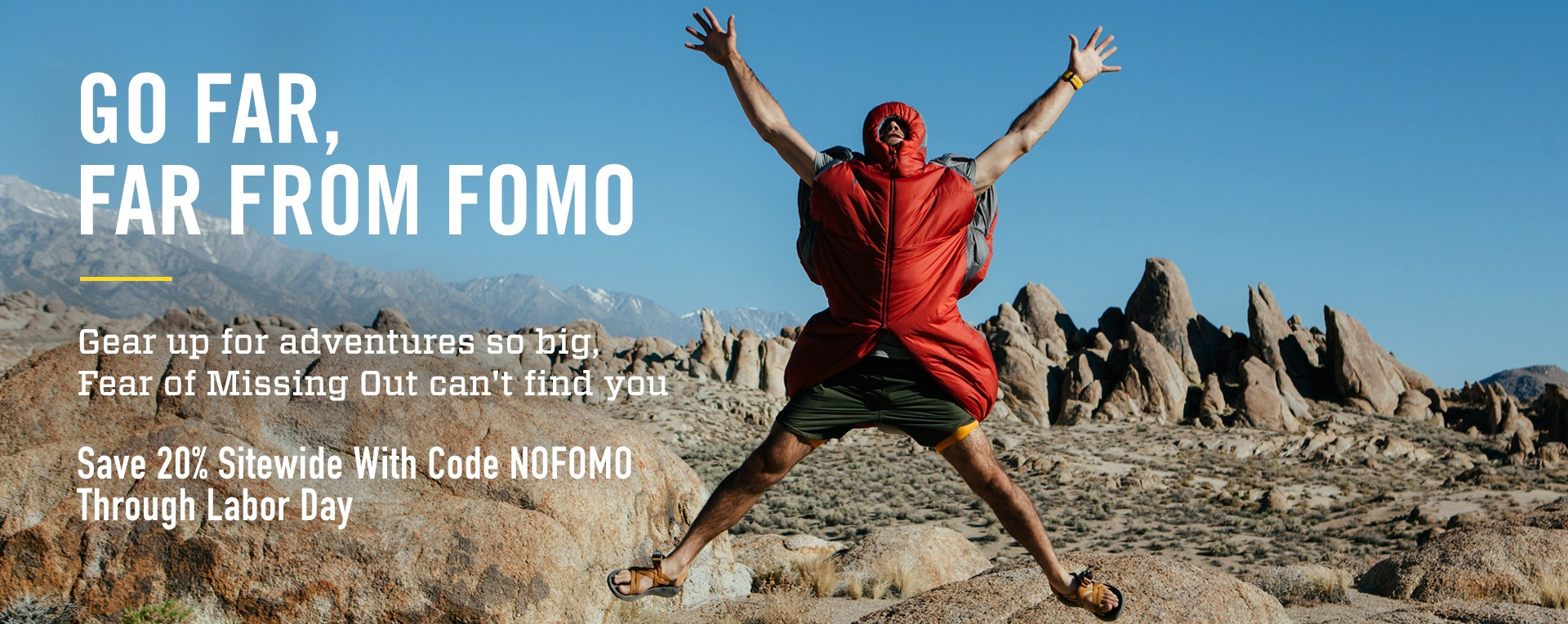 Save 20% Sitewide With Code NOFOMO