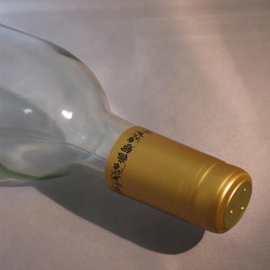 Gold with Black Grapes PVC Shrink Capsules