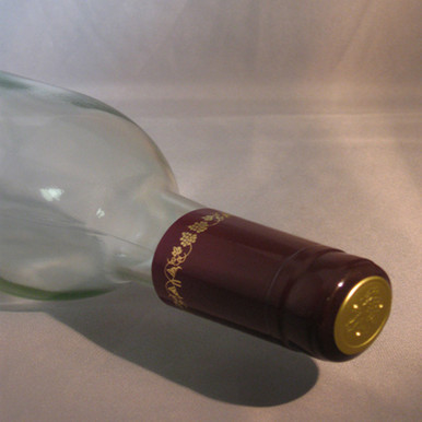 Burgundy with Gold Grapes PVC Shrink Capsules