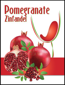 Island Mist Pomegranate Zinfandel Labels
