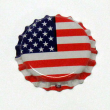 American Flag Oxygen Barrier Crown Caps
