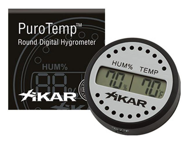 Xikar PuroTemp Round Digital Hygrometer