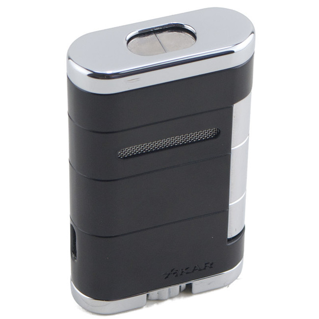 Xikar Allume Double Torch Lighter Tuxedo Black