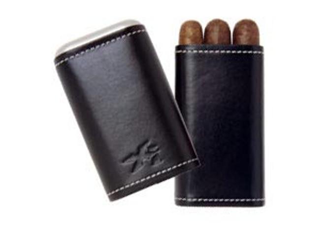 Xikar Xikar Envoy Black Leather 3 Count