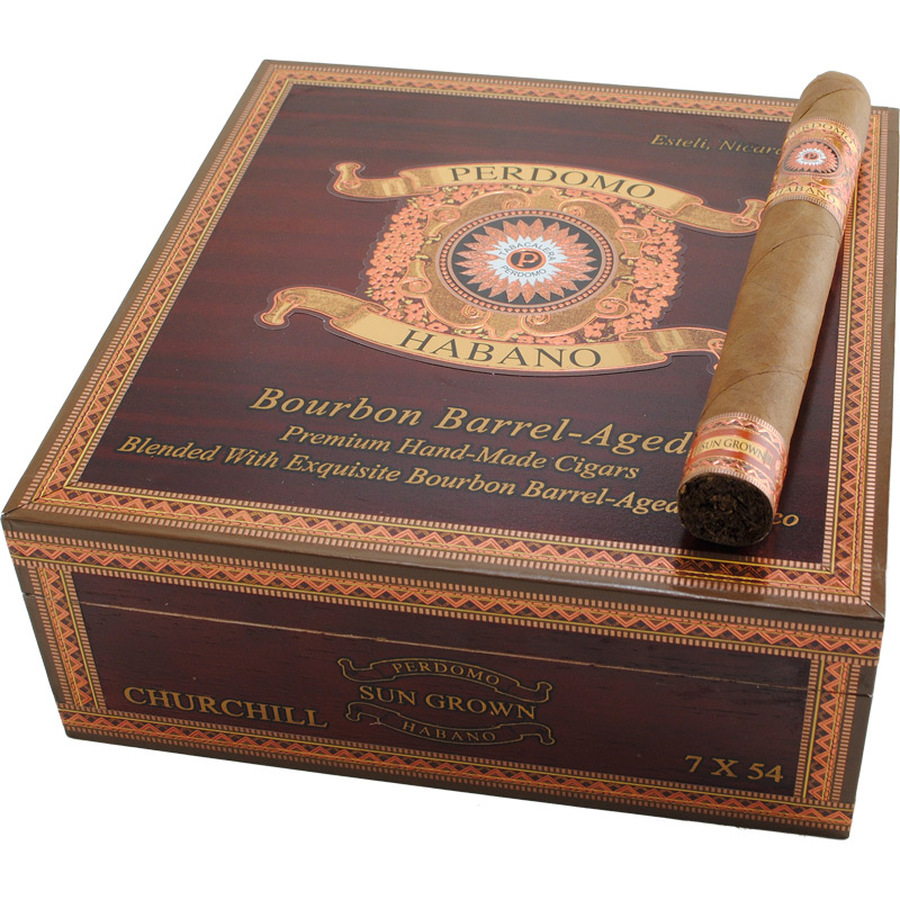 Perdomo Habano Bourbon Barrel Aged Sungrown Churchill
