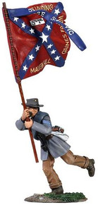 W Britain - Confederate Infantry Color Sergeant Charging, 5th Texas Flag No.1