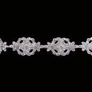 Medallion Swarovski Crystal Bead Trim