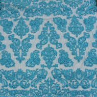 Turquoise Emb. Beaded My Lady Lace