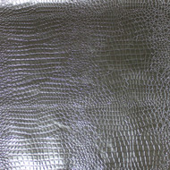 Silver Crocodile Faux Leather