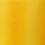 Bright Yellow Embossed Crocodile