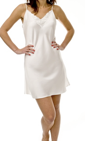 Simply Silk Nighties Chemise with Lace
