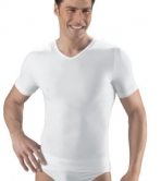 Issimo Mens Short Sleeve V Neck T-Shirt