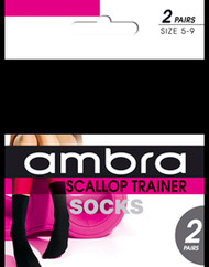 Ambra Scallop Trainer Sock (2 pair pack)