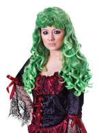 Cheryl Wig. Green/Black.