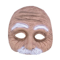 Old Man Half Mask with Moustache