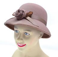 Lady's Hat 1920's Style. Plush Beige