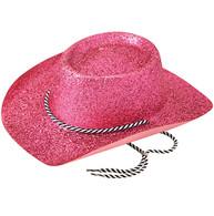 Cowboy Hat, Glitter Pink