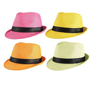Gangster Straw Hat (Assorted Colours)
