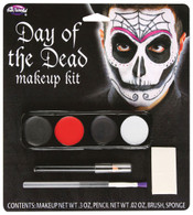 Day Of The Dead Make Up Kit (Male), Halloween Fancy Dress