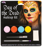 Day Of The Dead Make Up Kit (Female), Halloween Fancy Dress