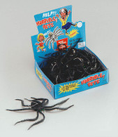 "Spiders.Black 10"" Long Legged.."