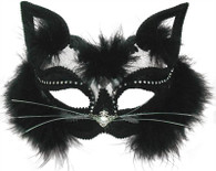 Transparent Black Cat Mask.
