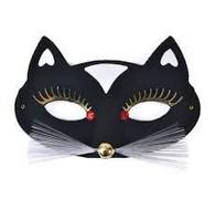 Black Cat Domino Eye Mask.