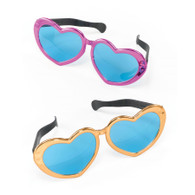 Jumbo Metallic Heart Sunglasses.