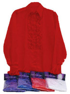Satin Shirt and Ruffles (Red).