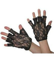 "Lacegloves 9"" Fingerless.Black."