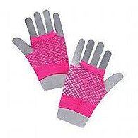 Fishnet Gloves Short Neonpink.