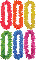 Pack of 12 Hawaiian Leis (Asstd Colours) 100cm